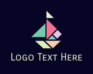Eclectic - Geometric Sailboat logo design