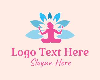 Meditation - Floral Yoga Meditation logo design
