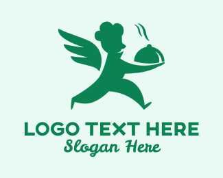 Take Out - Angel Chef Food Delivery  logo design