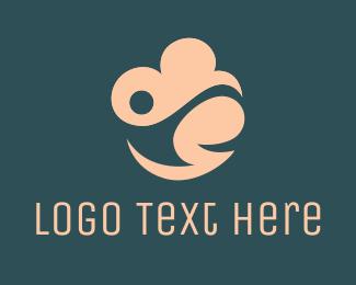 Foundations - Pink Cloud Person logo design