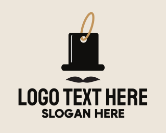Sale - Gentleman Tag logo design