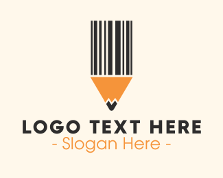 Barcode Pencil Logo