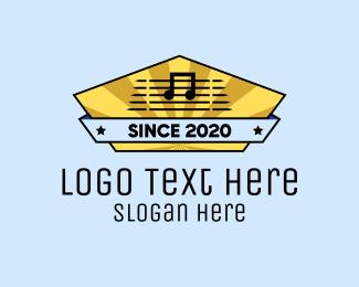 Karaoke Bar - Music Store Signage logo design
