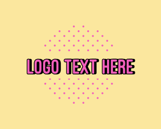 Cool - Pink Polka Dots Text logo design