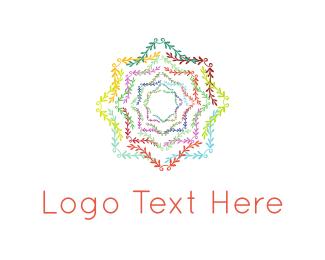 Pattern - Floral Star logo design