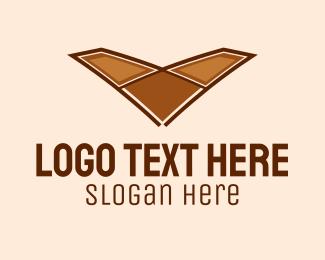 Flooring - Letter V Flooring logo design