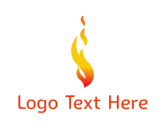 Orange Fire - Orange Flame Fire logo design