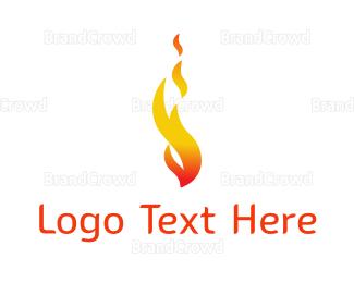 Blaze - Orange Flame logo design