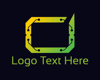 Electronic - Digital Frame logo design