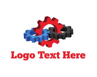 Mechanical - 3D Mechanic Gears logo design