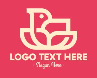 Bloom - Modern Flower Bird logo design
