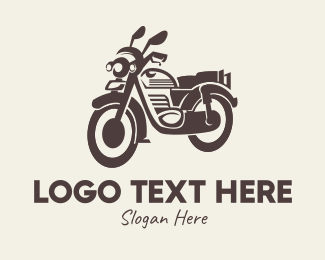 Riding - Vintage Motorcycle logo design