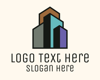 City Life - Minimalist Real Estate Building  logo design