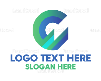 Department - Modern Gradient Letter G logo design