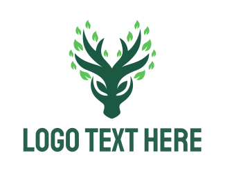 Vegan Meat - Green Deer logo design