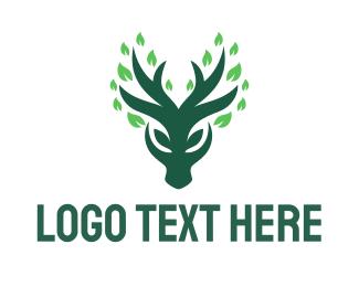 Healing - Green Deer logo design