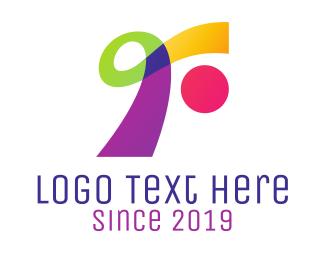 Dress Rental - Colorful Ribbon R logo design