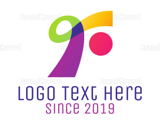 Alteration - Colorful Ribbon R logo design
