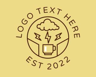 Lightning - Lightning Coffee Cafe logo design