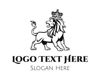 Investment Bank - Wild Lion King logo design