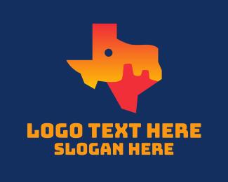 Texas - Texas Desert Map  logo design