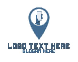 Route - Smartphone Pin logo design