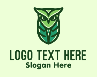 Cocoon - Green Owl Minimalist logo design