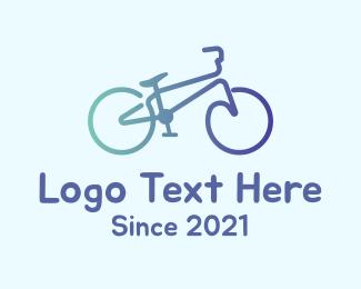 Transport - Monoline Bike Transportation logo design