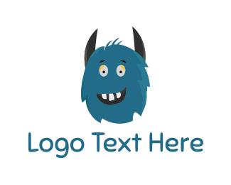 Horror - Blue Monster logo design