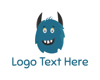 Horn - Blue Monster logo design