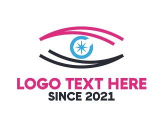 Eye - Star Pink Eye logo design