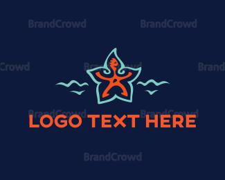 Beachwear - Star Man logo design