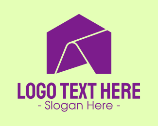 Household - Purple Folder House logo design
