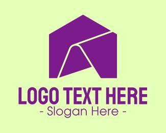 Rental - Purple Folder House logo design