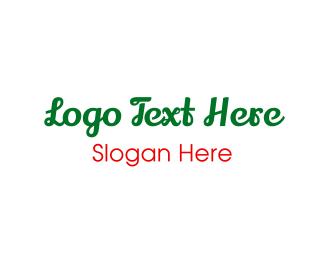 Green & Cursive Logo
