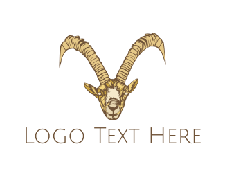 Wild Goat - Wild Brown Goat logo design