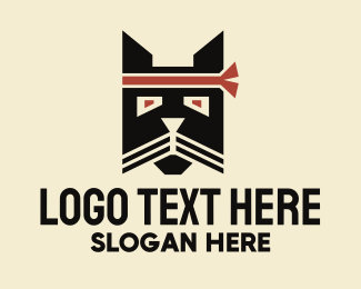 Martial Arts - Samurai Cat logo design