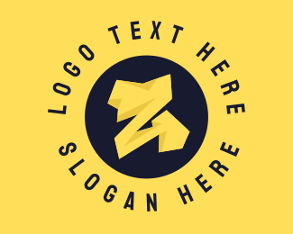 Voltaic - Yellow Bolt Letter Z logo design