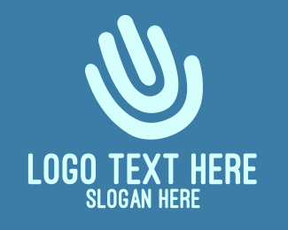 Id - Hand Print logo design