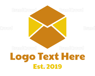 Text Message - Cube Mail logo design
