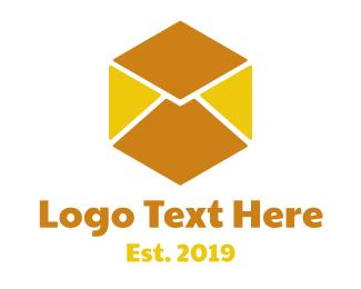 Mail - Cube Mail logo design