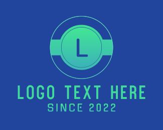 Cyber Cafe - Green Gradient Digital Startup Letter logo design