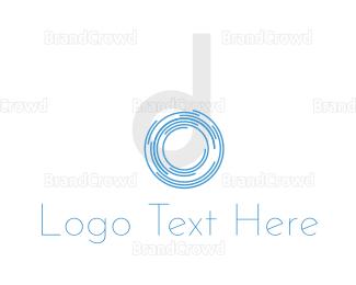 Biometric - Shutter Letter D logo design