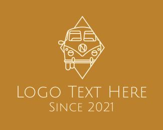 Road Trip - Vintage Camper Van logo design