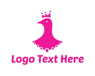 Princess - Pigeon King logo design