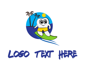 Summer - Surfer Tooth logo design