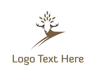 Moose - Deer Crown logo design