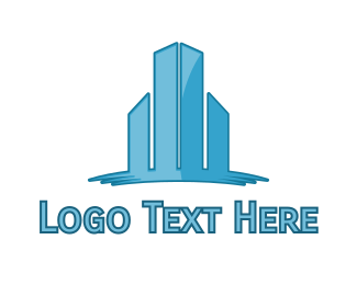 Commercial Real Estate - Modern Urban City  logo design