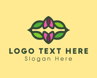 Natural Therapy - Floral Pattern logo design