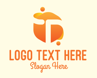 Wet - Orange Liquid Letter T logo design